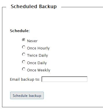 Programar backup