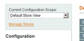 Alcance específico para una vista en la configuración de Magento