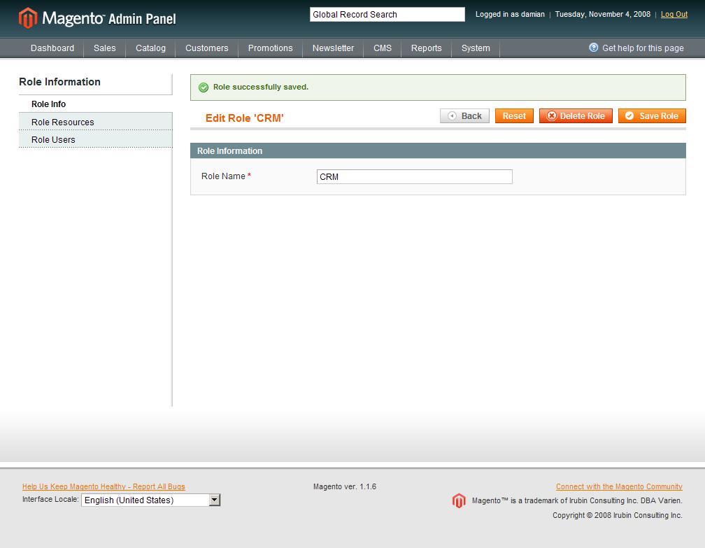Confirmación del nuevo Rol para la API de Magento