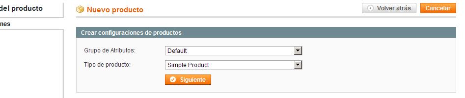 Tipo de Producto sin aplicar la traducción
