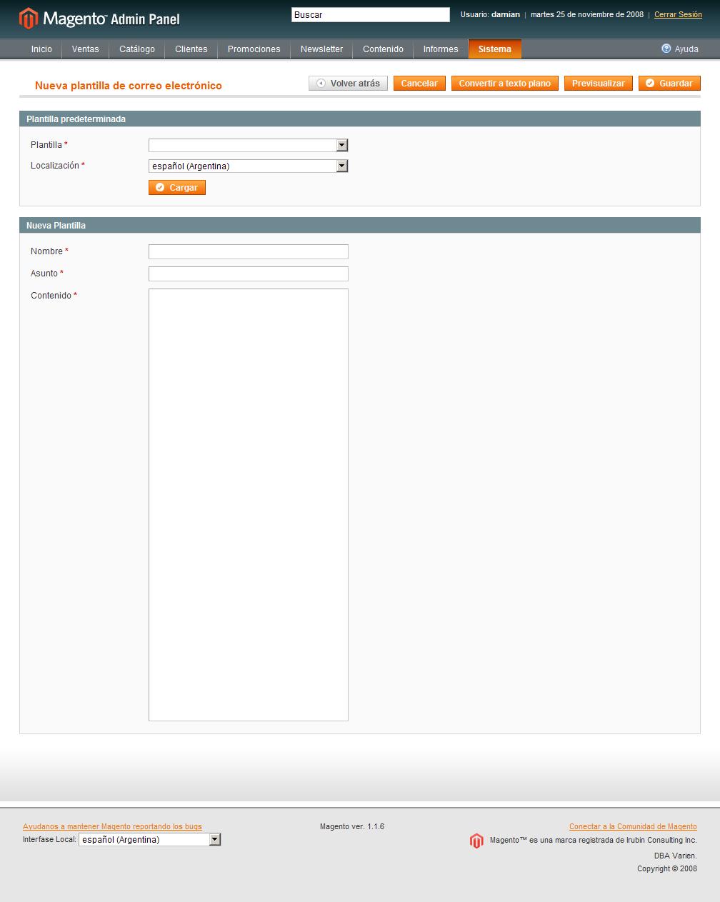 Personalizando los emails de Magento | Damián Culotta
