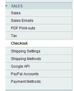 Configuración de comportamientos del Checkout en Magento