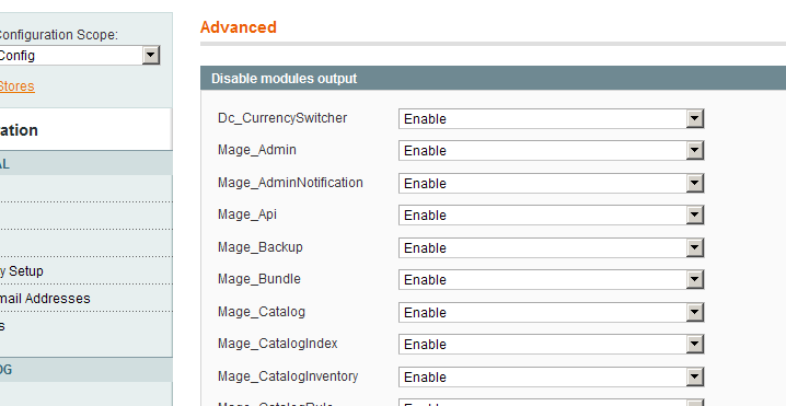 Dc Currencyswitcher activado en el backend de Magento