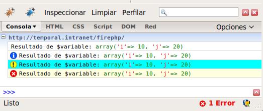 Debuggeando Php en la consola de Firebug con FirePHP