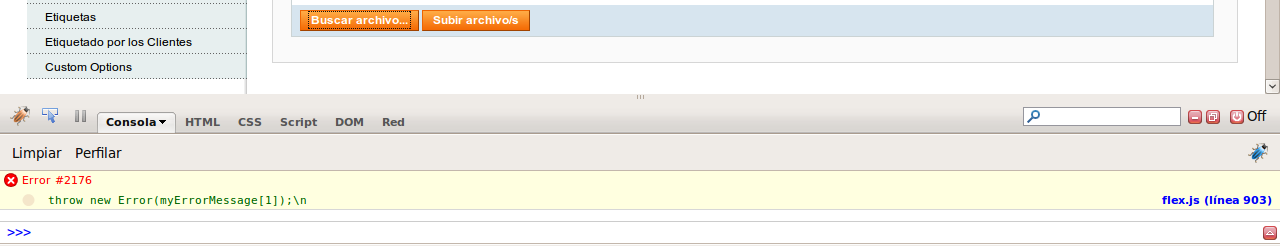 Error en el uploader de Magento 1.1.x