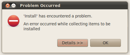 Error de Eclipse al querer instalar un plugin