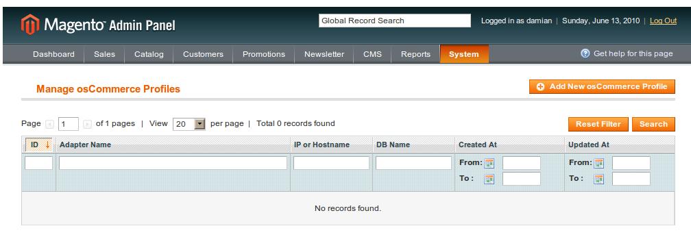 Importación de datos de osCommerce desde Magento
