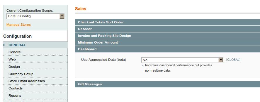 Configuración de órdenes en el nuevo esquema de Magento