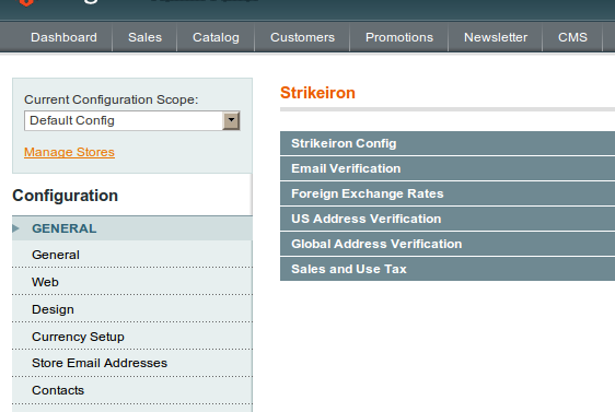 Strikeiron disponible nuevamente en Magento