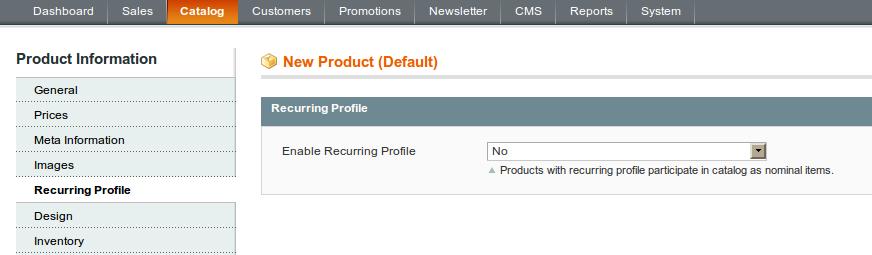 Recurring profile: nueva opción para la carga de productos en Magento