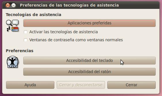 Accesibilidad del teclado en Ubuntu