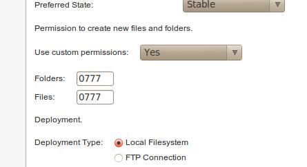 Configuración de permisos en MCM 2 en Magento