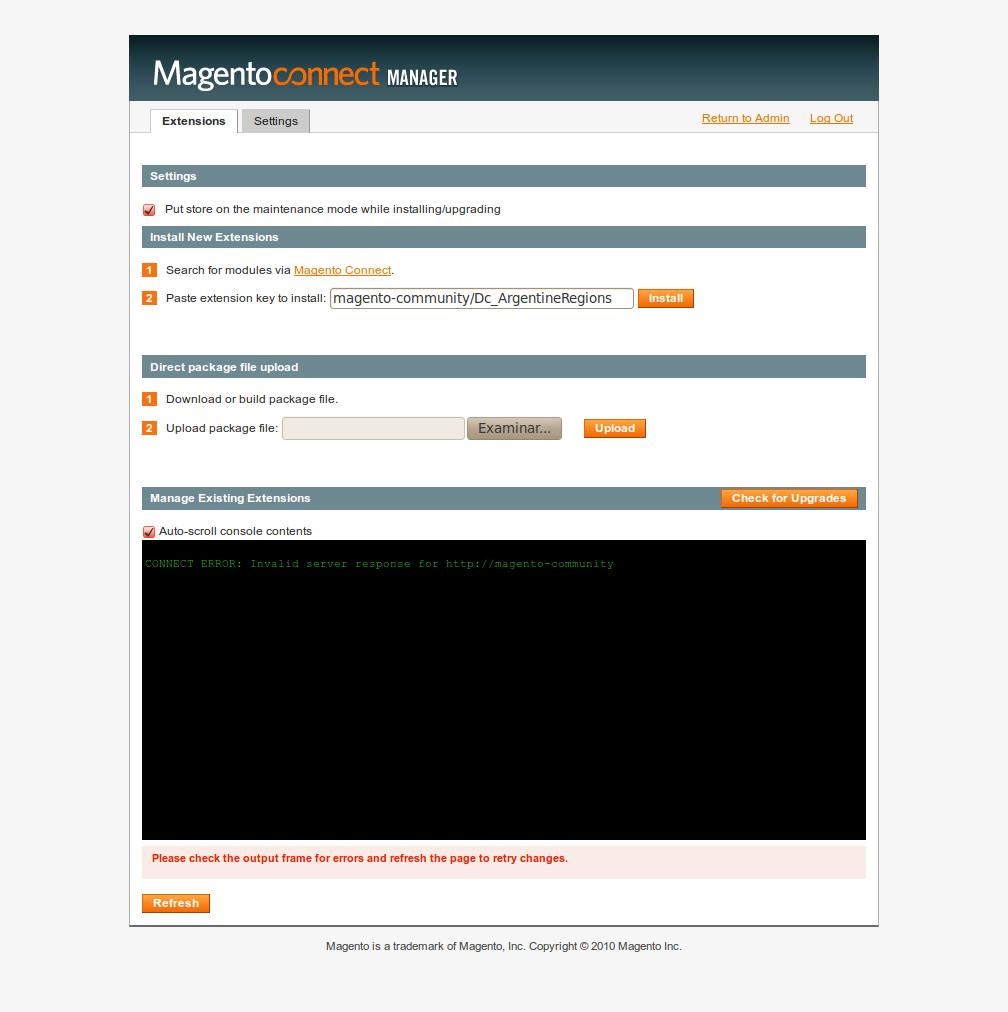 Error al usar las viejas key extensions en MCM 2 en Magento