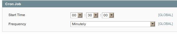 Configuración de cron jobs para ejecución por minutos en Magento