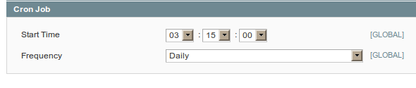 Configuración de cron jobs para ejecución por día en Magento
