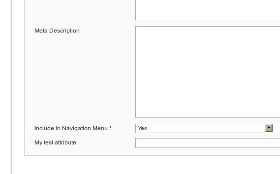 Atributo personalizado para la categoría en Magento