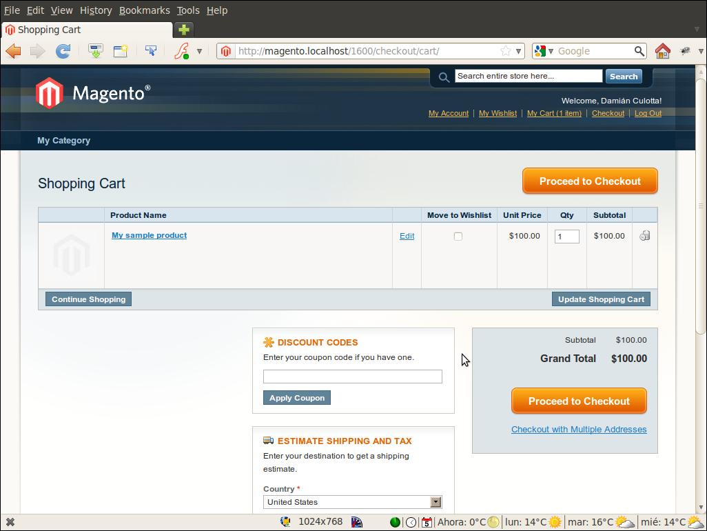 Carrito con persistencia en Firefox