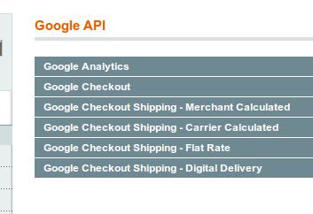 Lista actual de los servicios integrados de Google en Magento