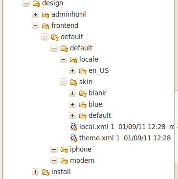 Nueva estructura para los skins en Magento2