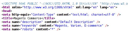Html tags generados por nuestro módulo en Magento