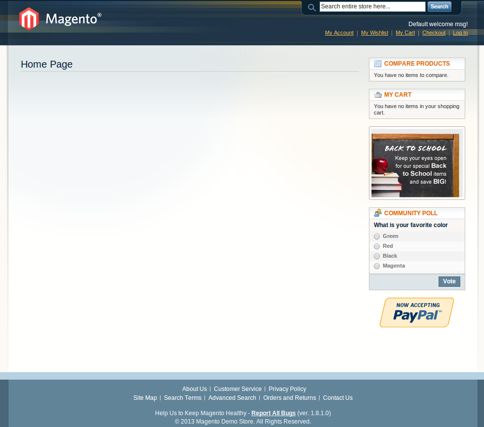 Magento frontend theme
