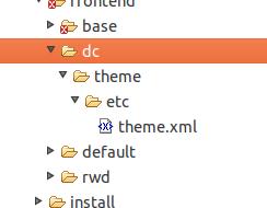 theme.xml para los themes en Magento