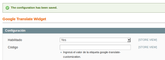 Habilitando Dc_GoogleTranslateWidget para Magento