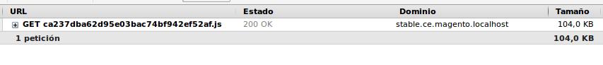 Archivos JS mergeados cargados por Magento