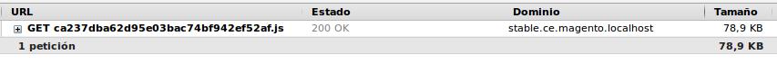 Archivos JS minificados cargados por Magento