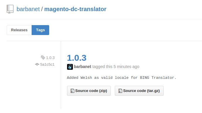 Versión 1.0.3 del módulo Dc_Translator para Magento