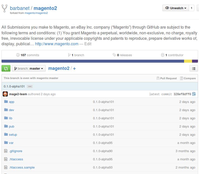 Fork de Magento2 actualizado