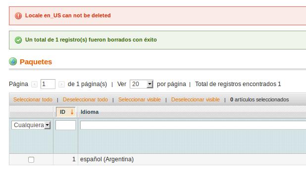 Error al borrar el último paquete de idioma en Dc_Translator