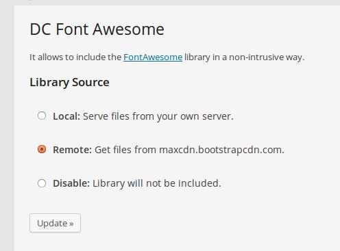 Configuración de DC_FontAwesome para WordPress