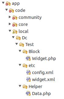 Ejemplo módulo para con widget en Magento