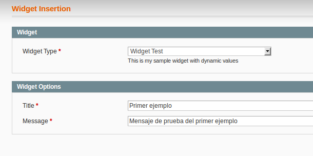 Asignando valores dinámicos a un widget