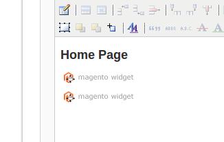 Página CMS con múltiples widgets