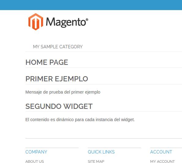 Página con múltiples instancias de widget