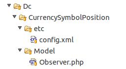 Módulo para configurar la posición de la moneda en Magento