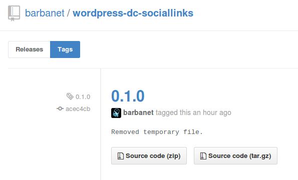 Dc_SocialLinks en GitHub