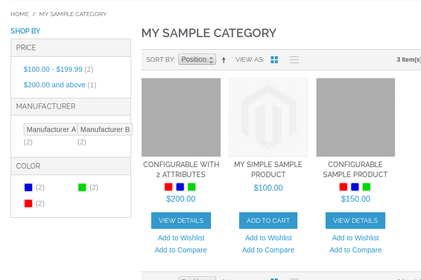 Layered Navigation con Configurable Swatches en Magento
