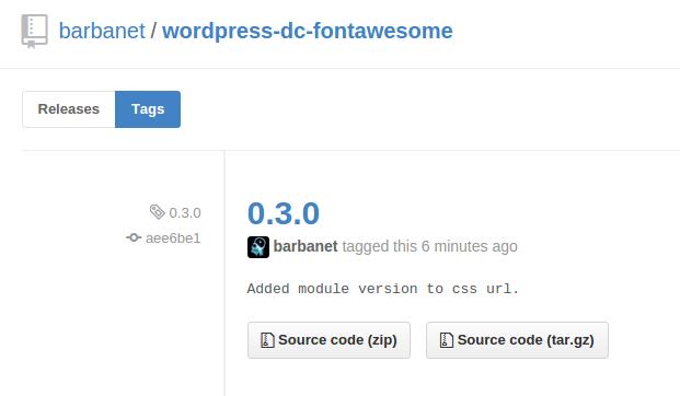 Versión 0.3.0 de Dc_FontAwesome para WordPress