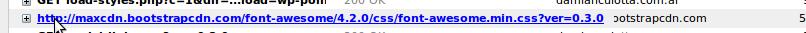 Parámetro en la url del archivo css en Dc_FontAwesome