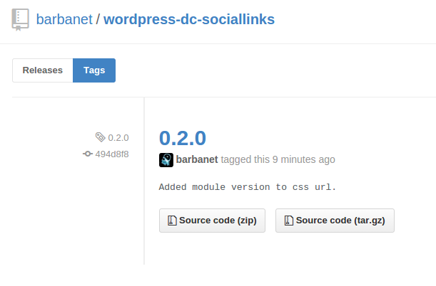 Dc_SocialLinks 0.2.0 para WordPress