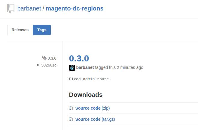 Dc_Regions 0.3.0 para Magento
