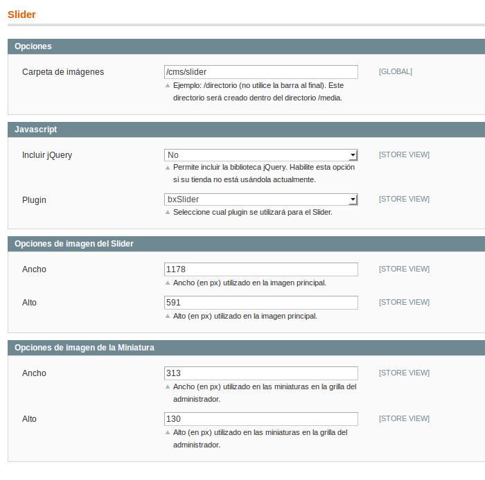 Configuración Dc_Slider para Magento