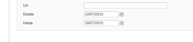 Formato de fecha en formulario de Magento