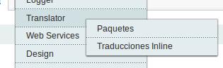 Menú Dc_Translator para Magento