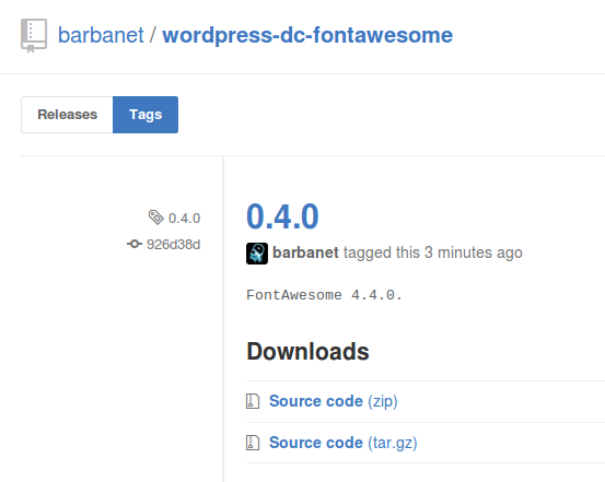 Dc_FontAwesome 0.4.0 para WordPress