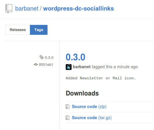 Dc_SocialLinks 0.3.0 para WordPress