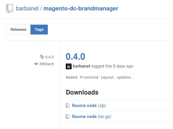 Dc_BrandManager 0.4.0 para Magento